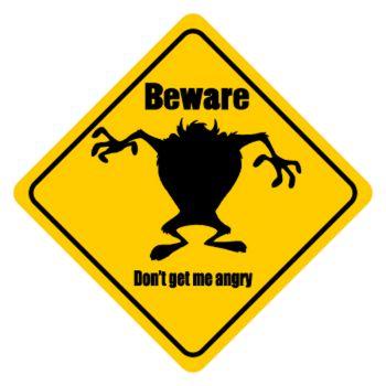 TAZ Beware Don't get me angry T-shirt
