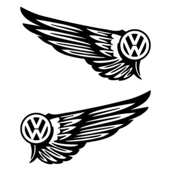 Kit Stickers Ailes VW Volkswagen Logo