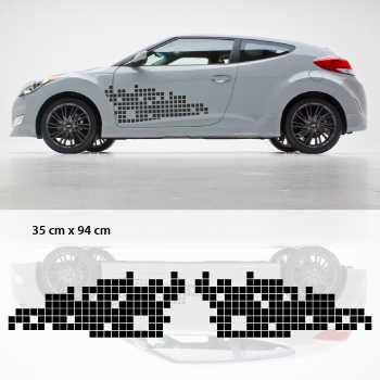 Remix car side stickers set - (style Hyundai Veloster)