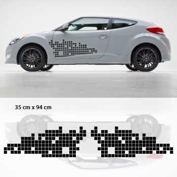 Kit Stickers Deko Türen auto Remix (style Hyundai Veloster)