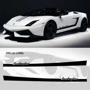 Lamborghini car side stripes decals set