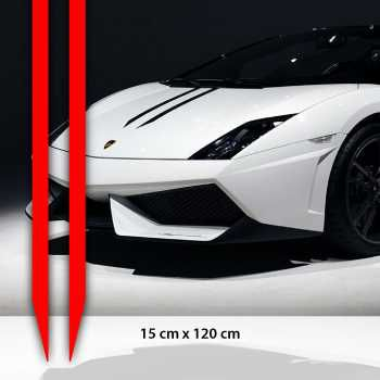 Lamborghini style car hood stripe of  15 cm x 120 cm decal