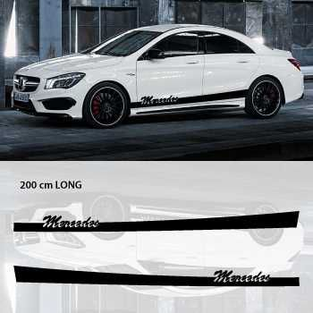 Mercedes car side stripes decals set