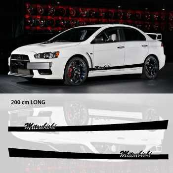 Mitsubishi car side stripes decals set