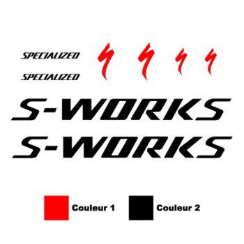 Kit Stickers Vélo Specialized S-works en 2 Couleurs au choix