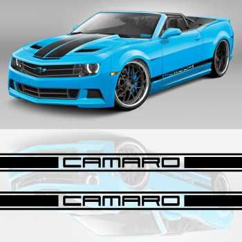 Chevrolet Camaro car side racing Decals set