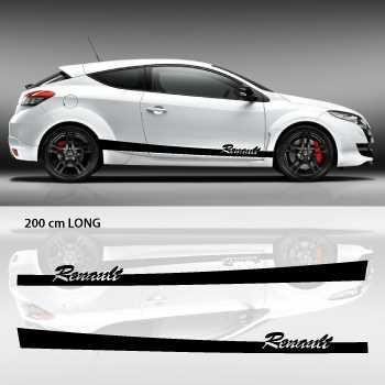 Renault car side stripes decals set