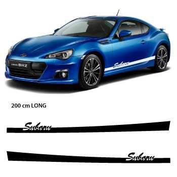 Kit Stickers Bandes Bas de Caisse Voiture Subaru