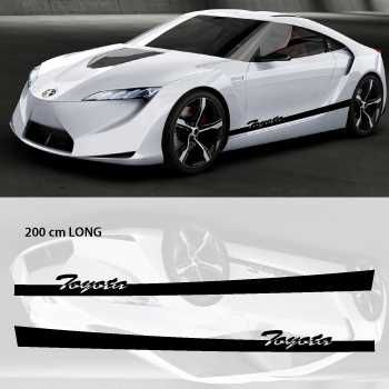 Toyota car side stripes decals set