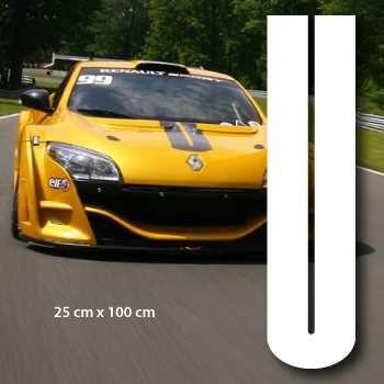 Mégane RS style car hood stripe Decal