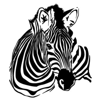 The Zebra Face Decal