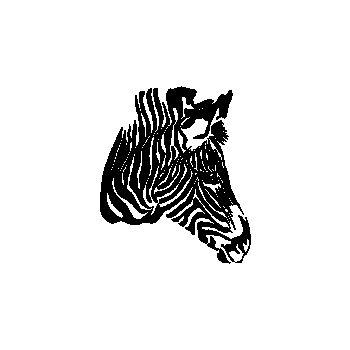 The Zebra Profile Decal
