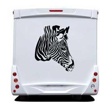 The Zebra Profile Camping Car Decal