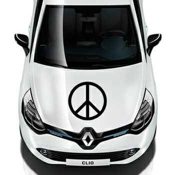 Sticker Renault Peace & Love Logo