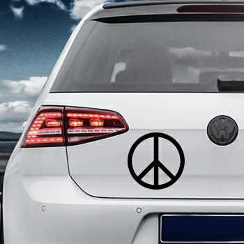 Sticker VW Golf Peace & Love Logo
