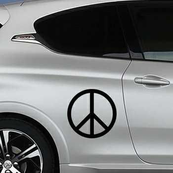 Sticker Peugeot Peace & Love Logo