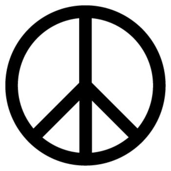 Sticker Peace & Love Logo