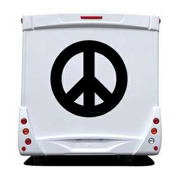 Sticker Camping Car Peace and Love Logo 2
