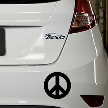 Sticker Ford Fiesta Peace and Love Logo 2