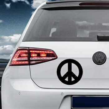 Sticker VW Golf Peace and Love Logo 2