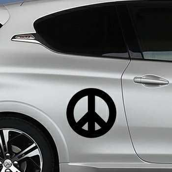 Sticker Peugeot Peace and Love Logo 2