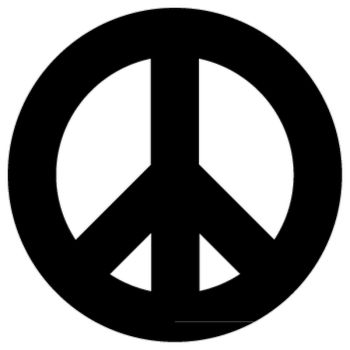 Sticker Peace and Love Logo 2