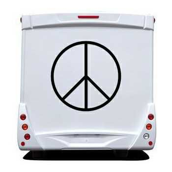 Sticker Camping Car Peace and Love Logo 3