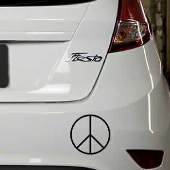 Sticker Ford Fiesta Peace and Love Logo 3