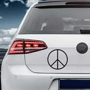 Sticker VW Golf Peace and Love Logo 3