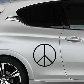 Sticker Peugeot Peace and Love Logo 3