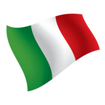 Italy Flag waving decorative Decal