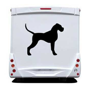 Dog silhouette Camping Car Decal