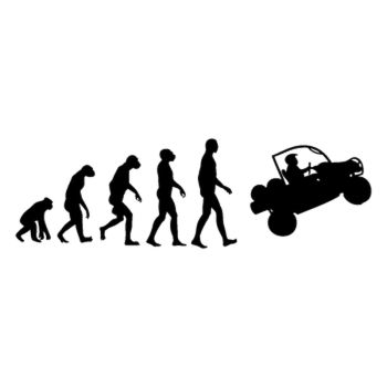 Evolution of Man SSV car Decal