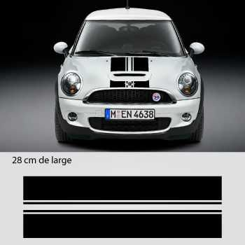 Kit Stickers Bande doppeltes Motorhaube Mini (Motorhaube, Toit, Kofferraum) 2