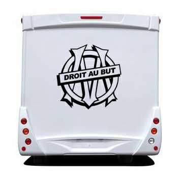 OM Droit au But Camping Car Decal