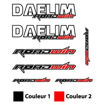 Daelim Roadwin Logos decals set