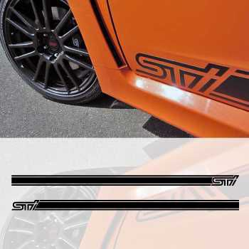 Subaru STI car side stripes decals set