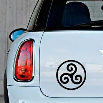 Sticker Mini Triskel Breton Logo