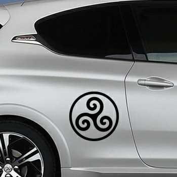 Sticker Peugeot Triskel Breton Logo
