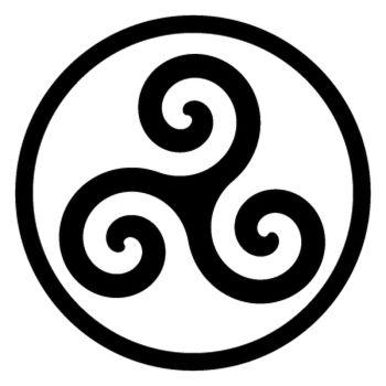 Sticker Triskel Breton Logo
