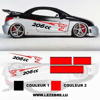 Peugeot 206 CC DECALS SET