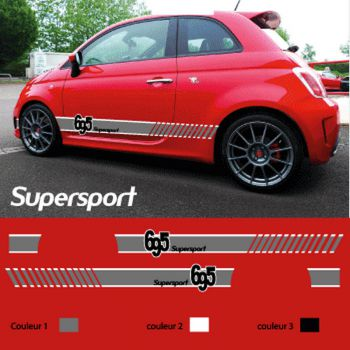 Italian side strips  Fiat tributo Ferrari 695  supersport
