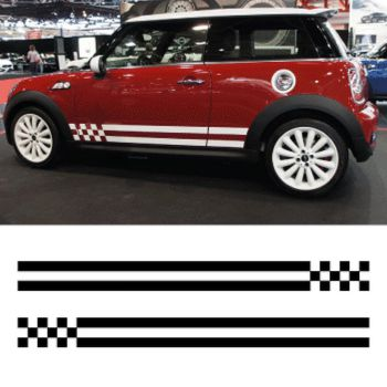 Mini cooper monte carlo stripes decals set of 2 stripes
