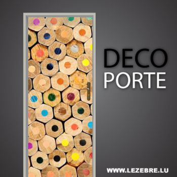 Color pencils door decal