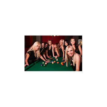 Sticker Déco Jolies Femmes Jouant au Billiard