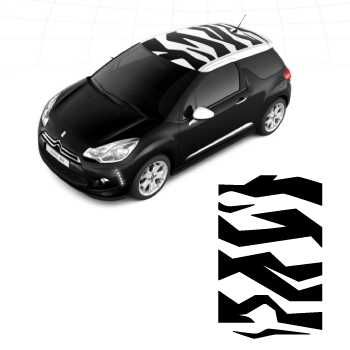 Citroën DS3 Zebra Roof Decal