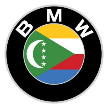 BMW logo Comoros flag Decal