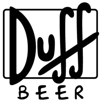 Sticker Bier Duff Beer logo