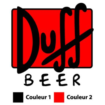 Duff Beer logo Decal (2 colors)