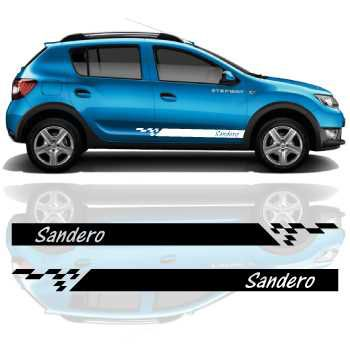 Car side Dacia Sandero stripes stickers set